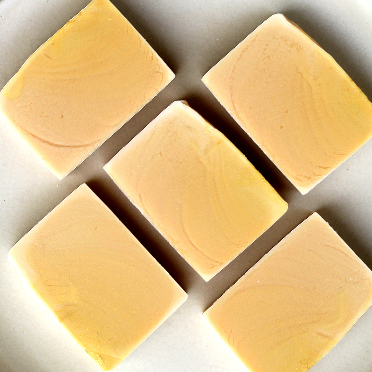 Gold ombre style soap. Lemon Myrtle scented